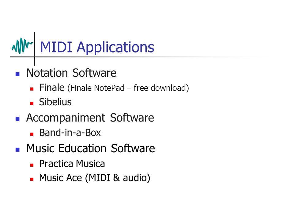 Musical Instrument Digital Interface  MIDI Basics First