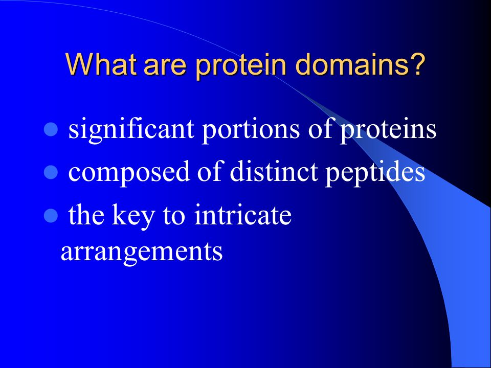 What are protein domains.