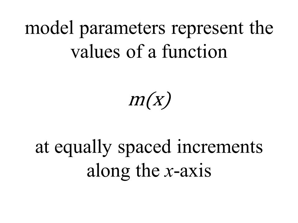 model parameters represent the values of a function m(x) at equally spaced increments along the x-axis