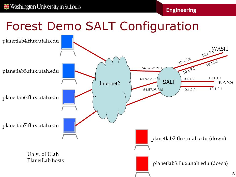 8 Engineering Forest Demo SALT Configuration SALT Univ.