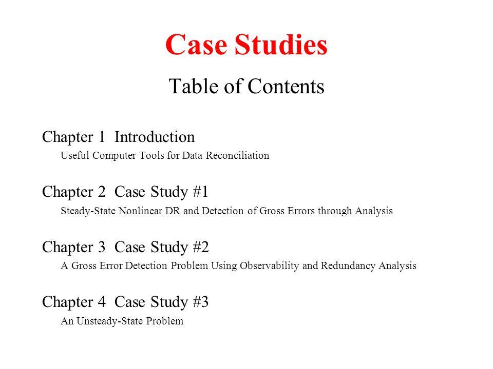 case study contents