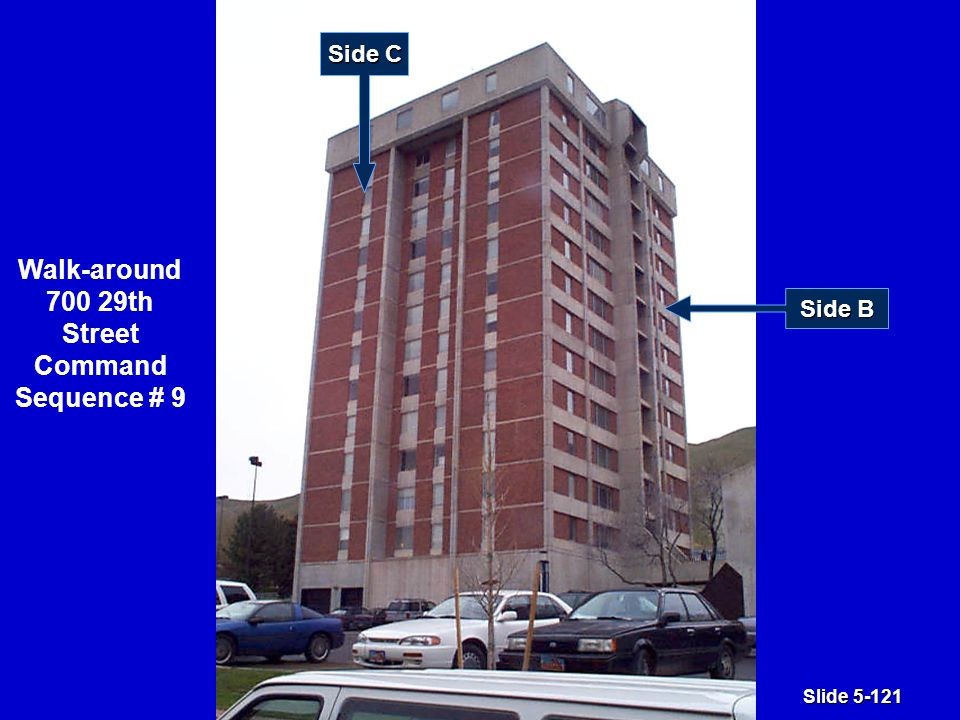 Slide 5-121 Walk-around 700 29th Street Command Sequence # 9 Side C Side B