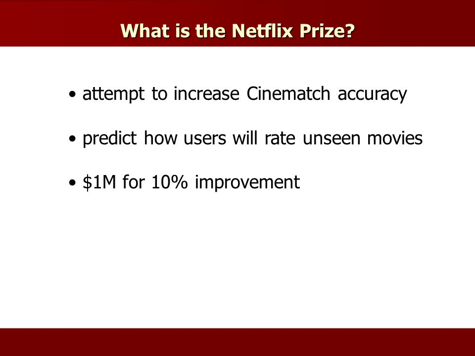 What is the Netflix Prize.