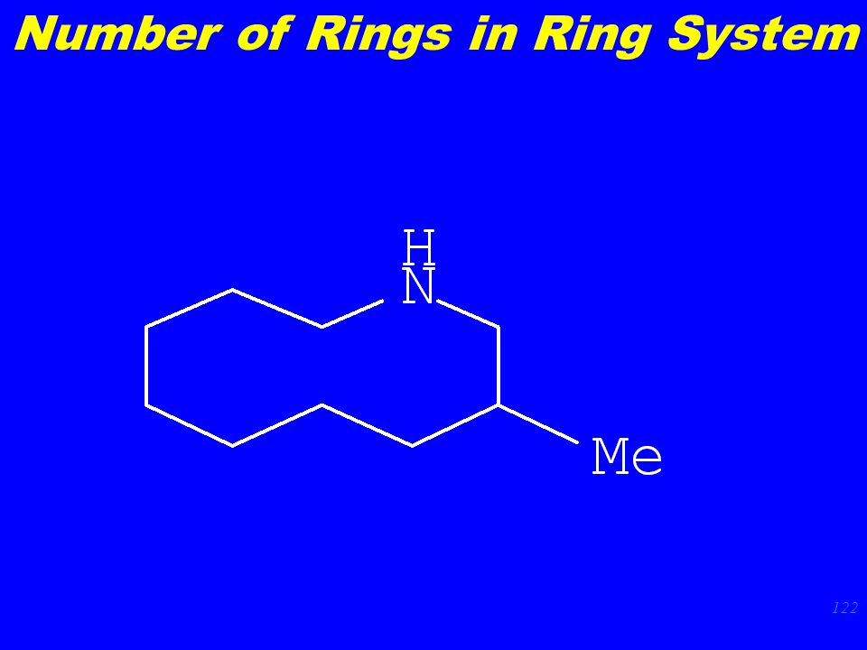 122 Number of Rings in Ring System