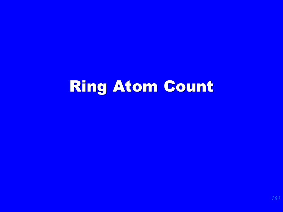 183 Ring Atom Count