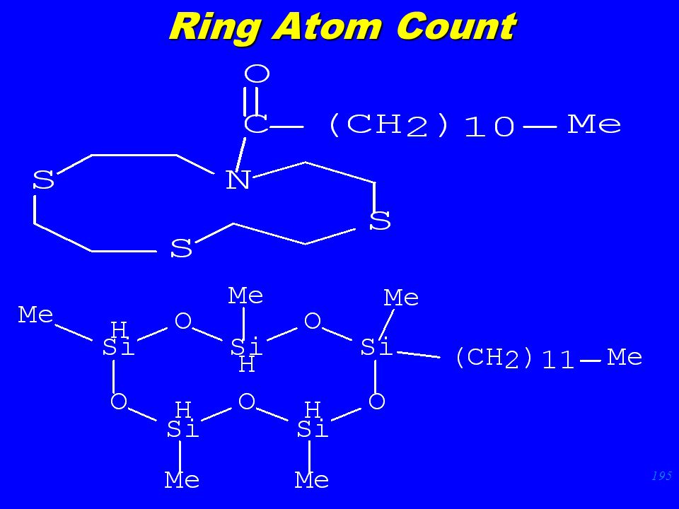 195 Ring Atom Count