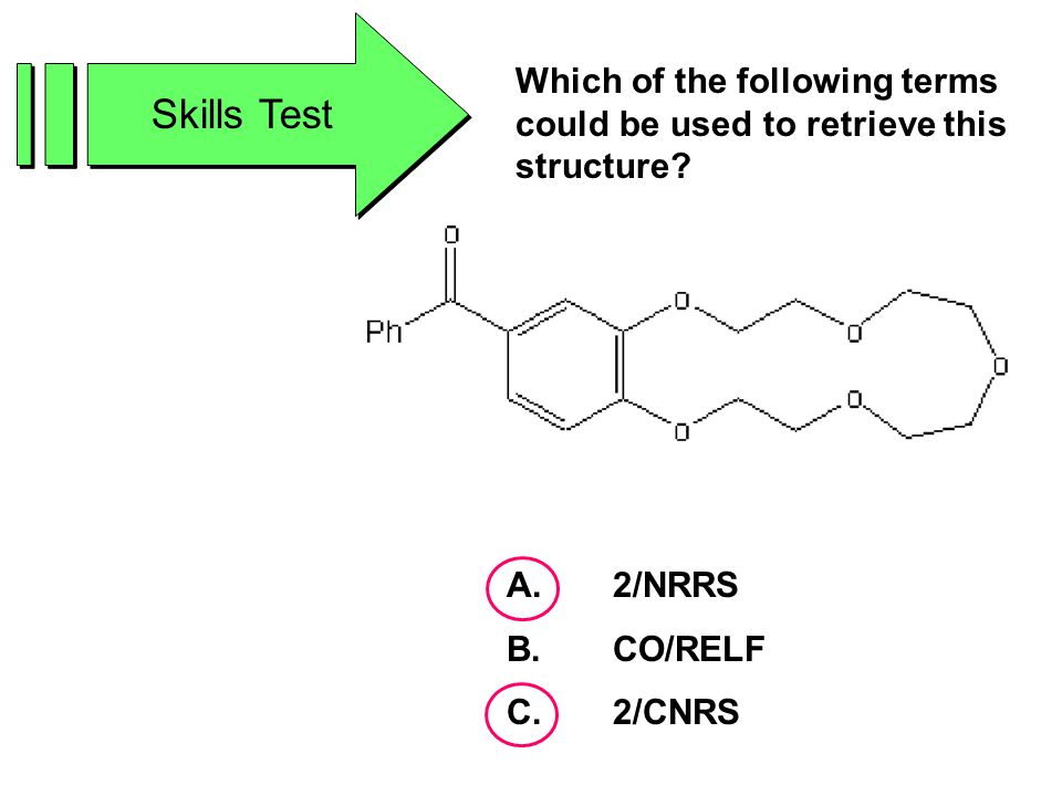 Skills Test Which of the following terms could be used to retrieve this structure.
