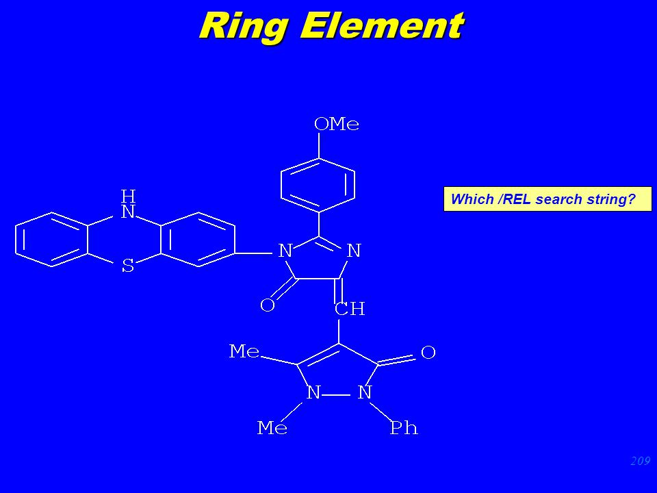 209 Which /REL search string Ring Element