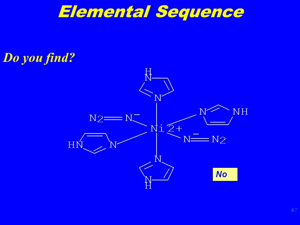 97 Elemental Sequence Do you find No