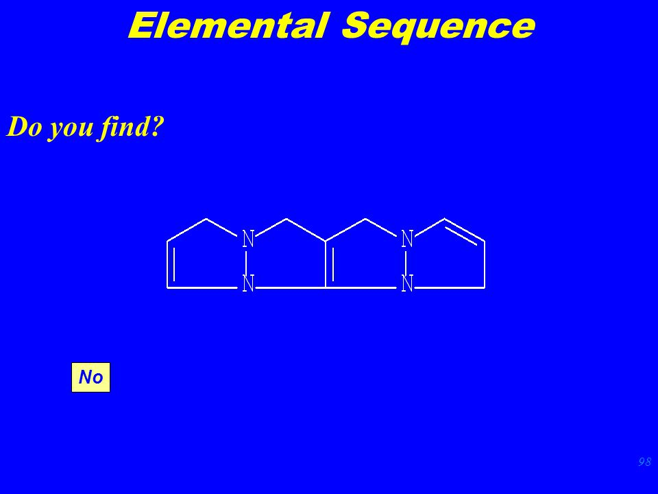 98 Elemental Sequence Do you find No