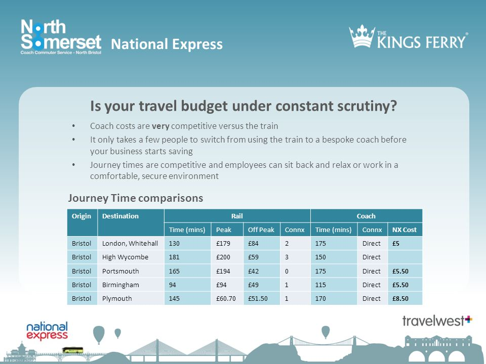 National Express Is your travel budget under constant scrutiny.