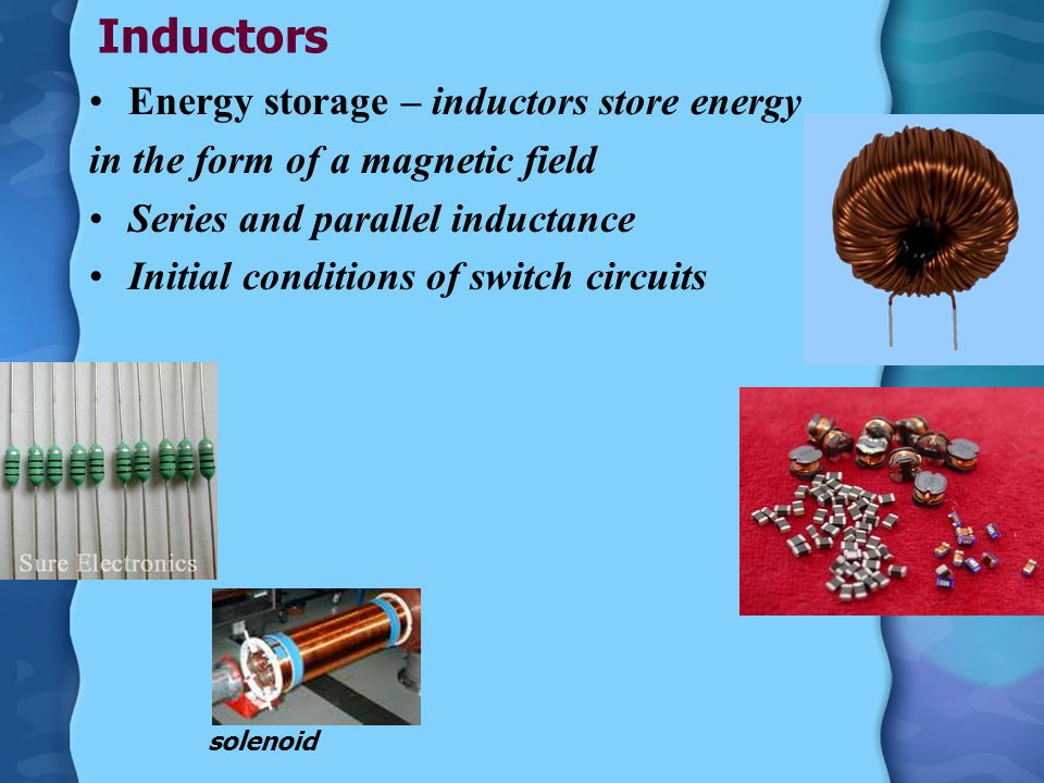 Inductors Store magnetic fields Symbol