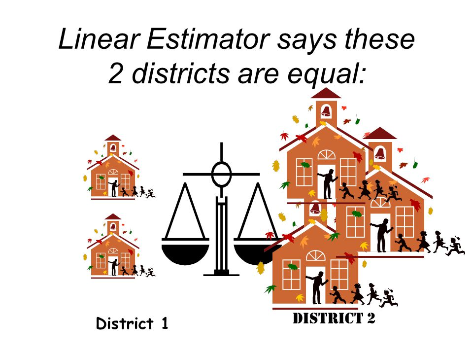 Linear Estimator says these 2 districts are equal: District 1 District 2