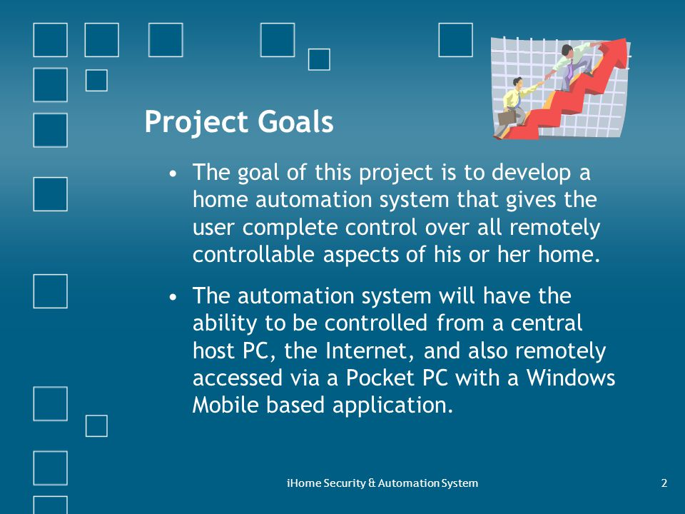 IHome Security Automation System2 Project Goals The Goal Of This Is To Develop A