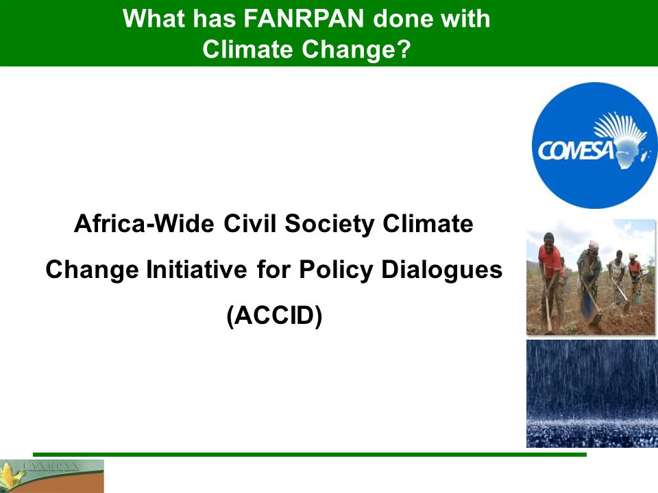 What has FANRPAN done with Climate Change.