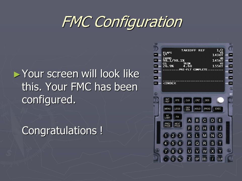 FMC Configuration ► Your screen will look like this.
