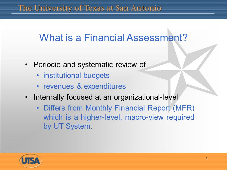 3 What is a Financial Assessment.