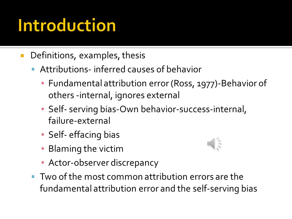 Section B Definitions Examples Thesis Attributions Inferred