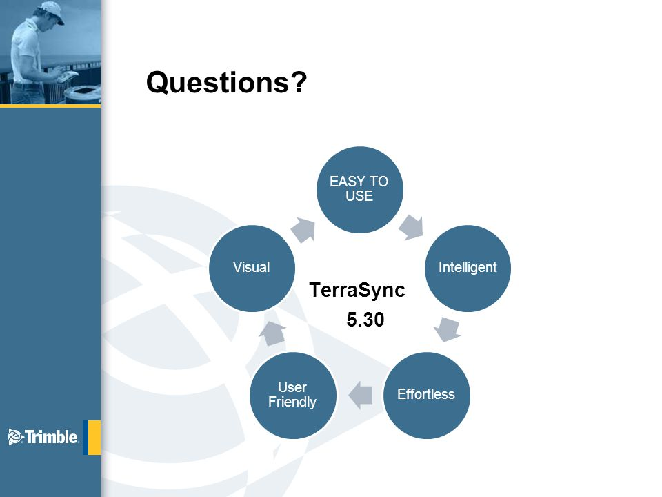 EASY TO USE IntelligentEffortless User Friendly Visual Questions TerraSync 5.30
