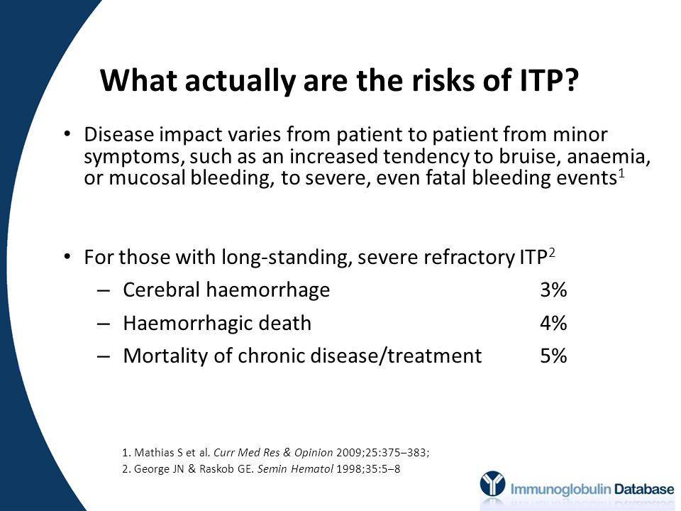What actually are the risks of ITP.