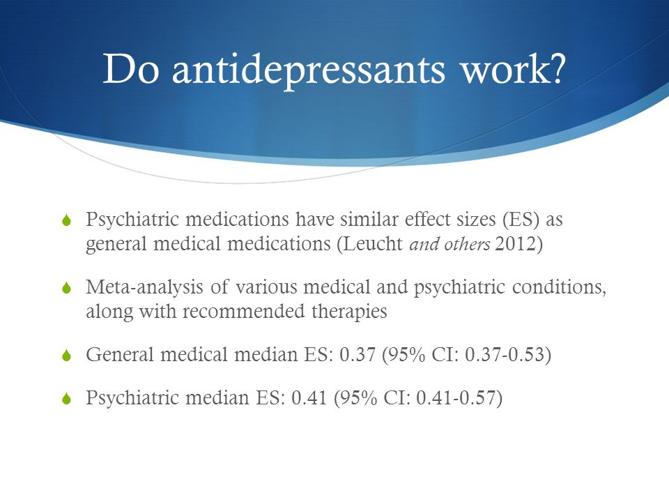 Do antidepressants work.
