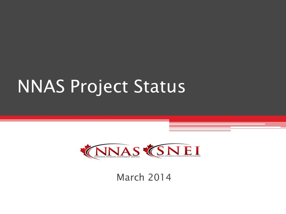 NNAS Project Status March 2014