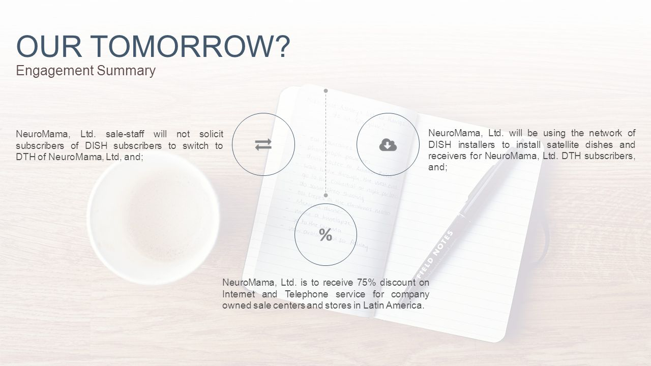 OUR TOMORROW. Engagement Summary NeuroMama, Ltd.