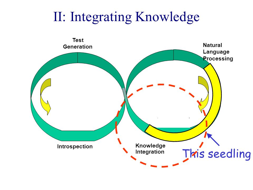 II: Integrating Knowledge Knowledge Integration Introspection Natural Language Processing Test Generation This seedling