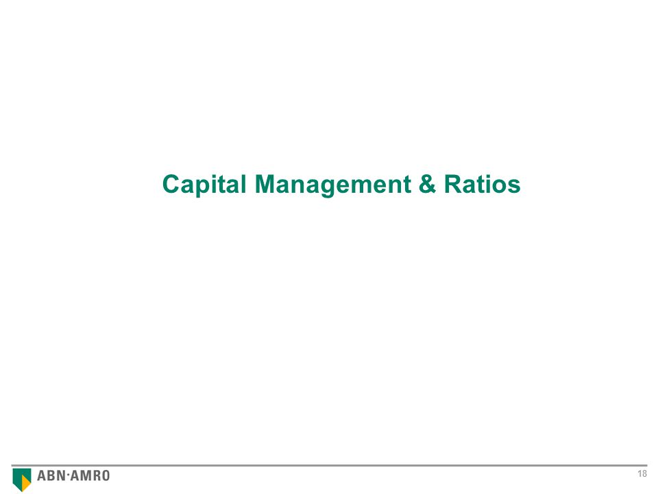 Results 2001 18 Capital Management & Ratios