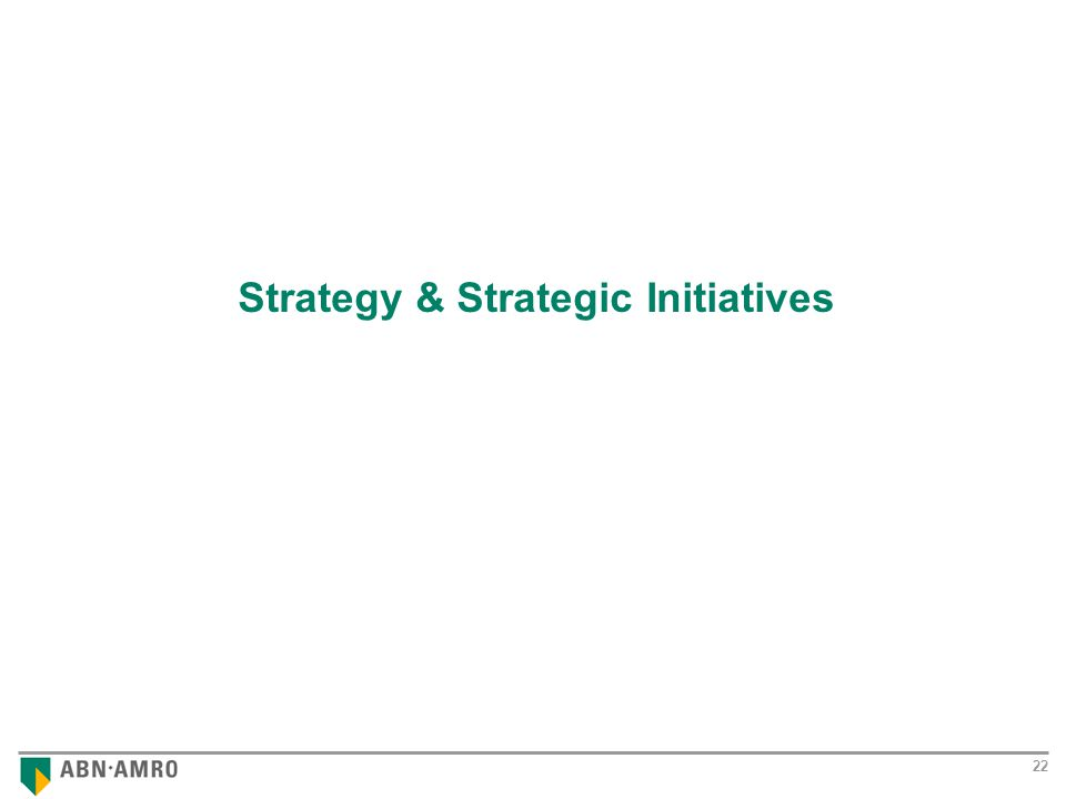 Results 2001 22 Strategy & Strategic Initiatives