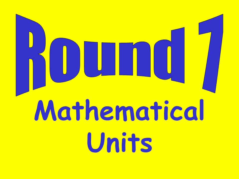 Mathematical Units