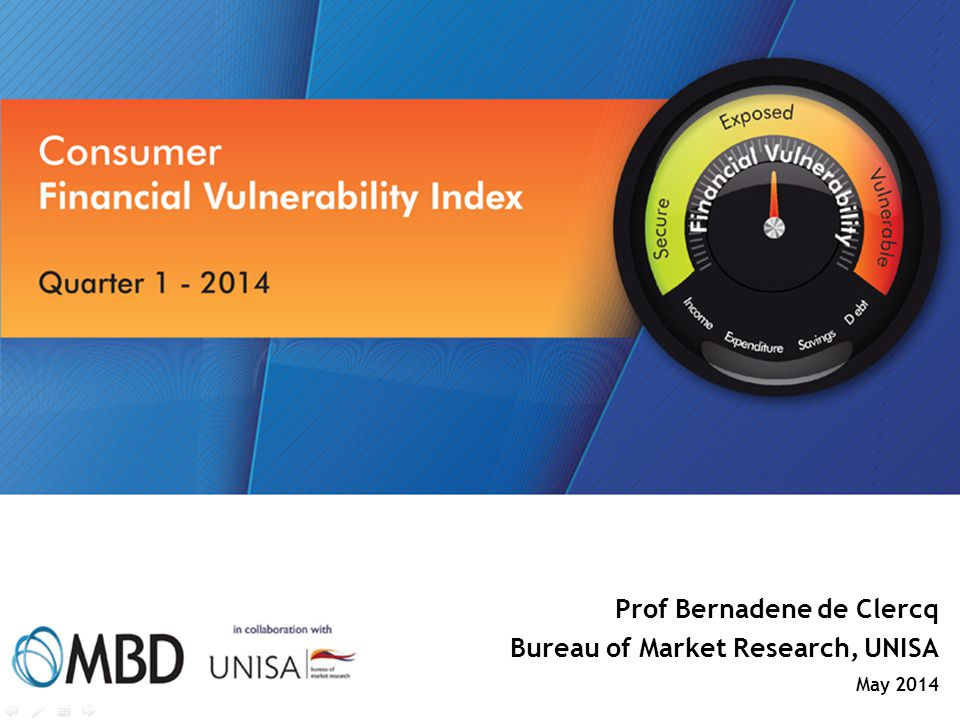 Prof Bernadene de Clercq Bureau of Market Research, UNISA May 2014