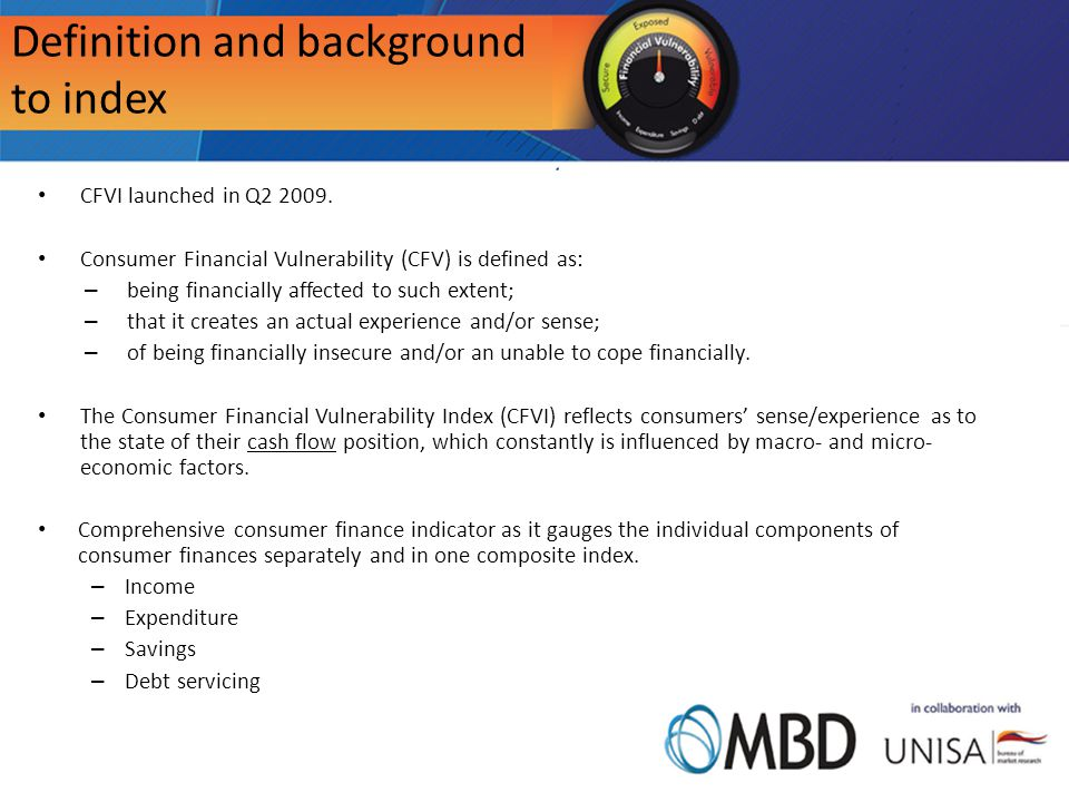 Definition and background to index CFVI launched in Q2 2009.