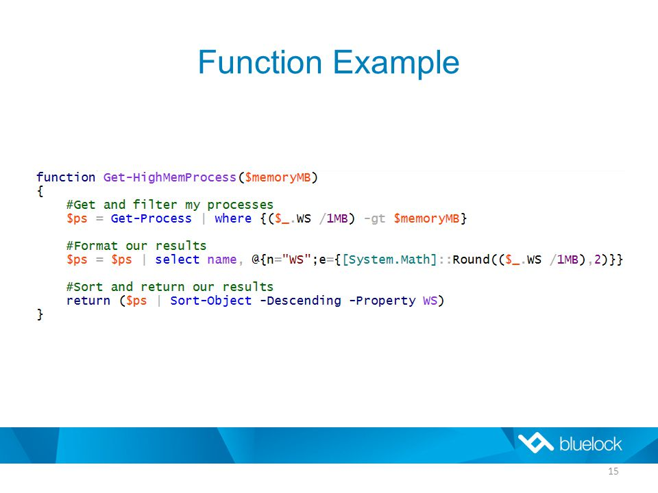 Function Example 15