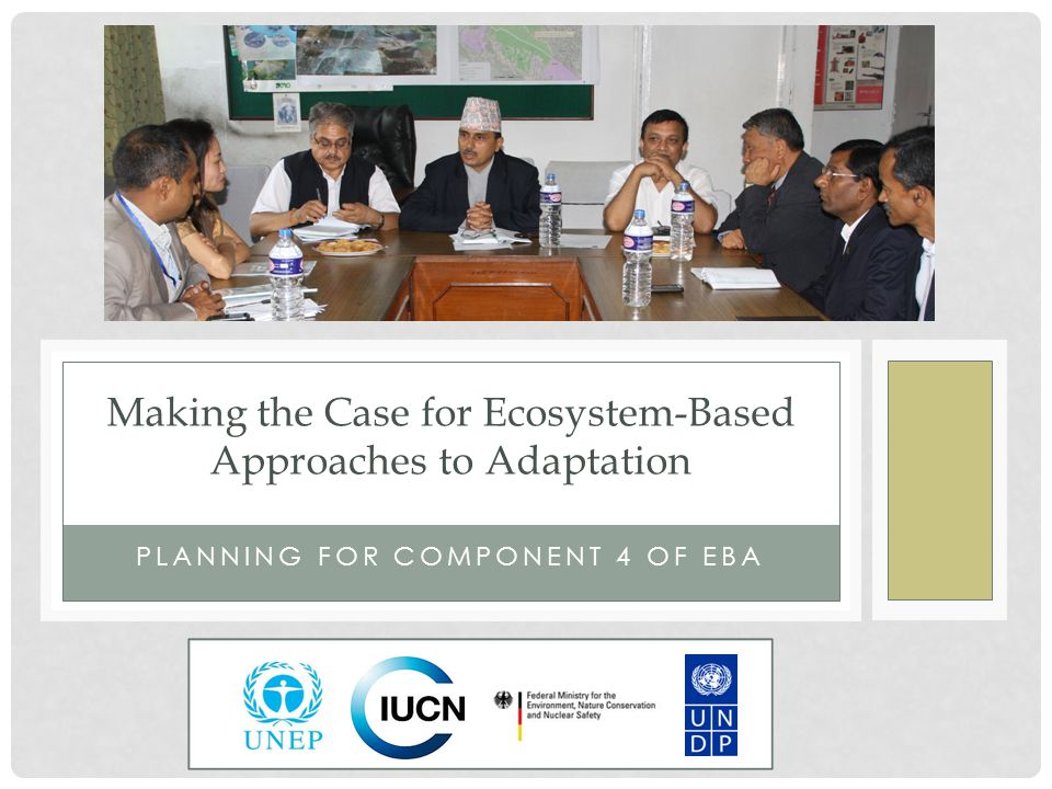 PLANNING FOR COMPONENT 4 OF EBA Making the Case for Ecosystem-Based Approaches to Adaptation