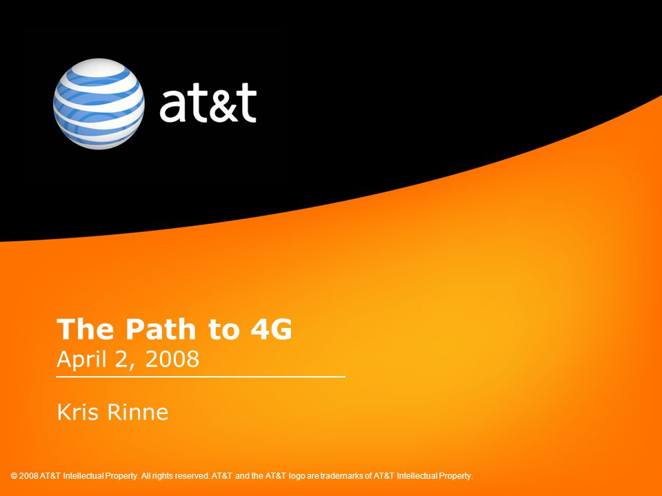 © 2008 AT&T Intellectual Property. All rights reserved.