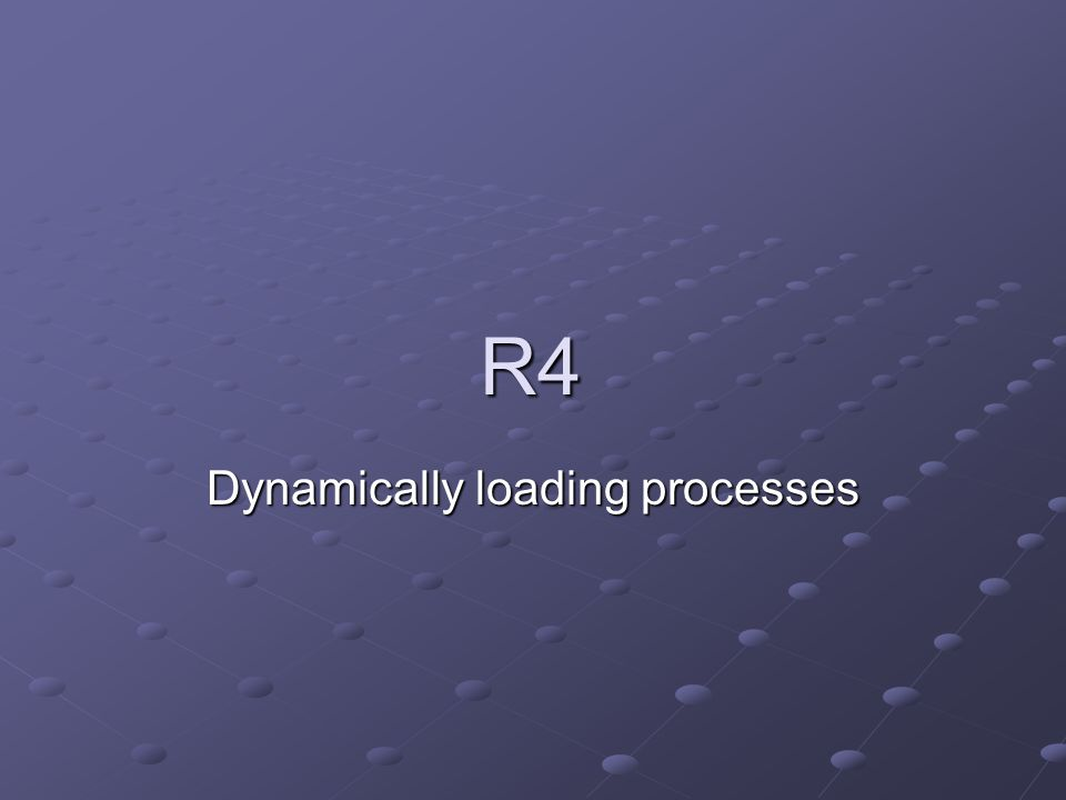 R4 Dynamically loading processes