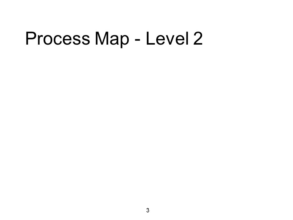 3 Process Map - Level 2
