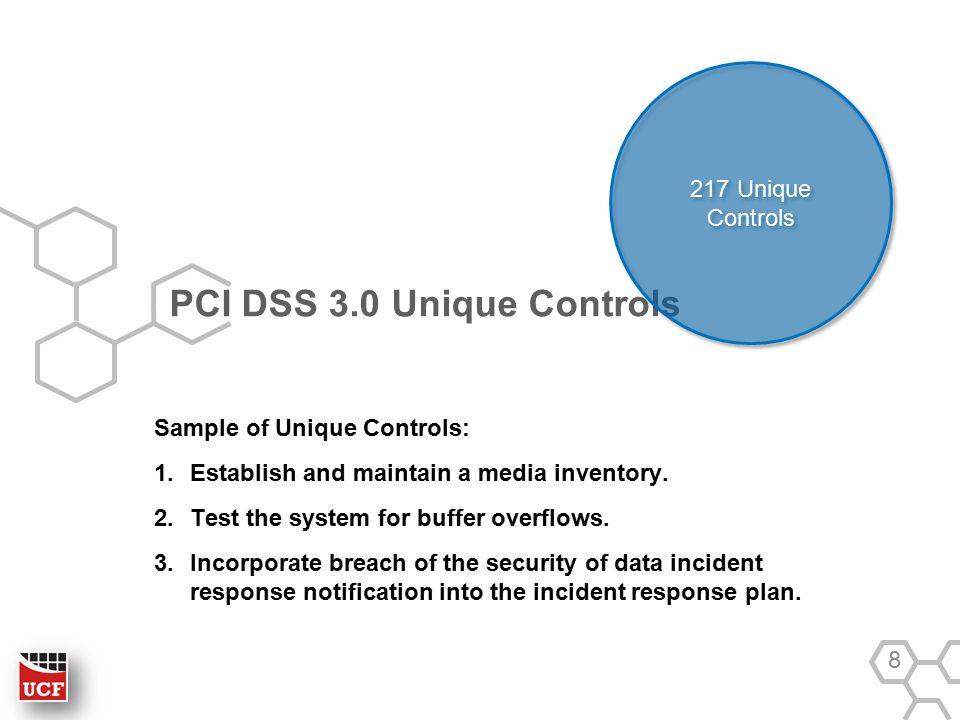 8 PCI DSS 30 Unique Controls Sample
