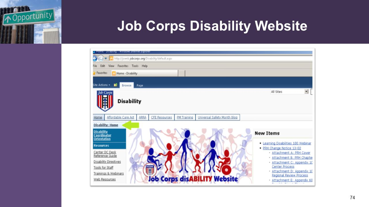 Job Corps Disability Website 74