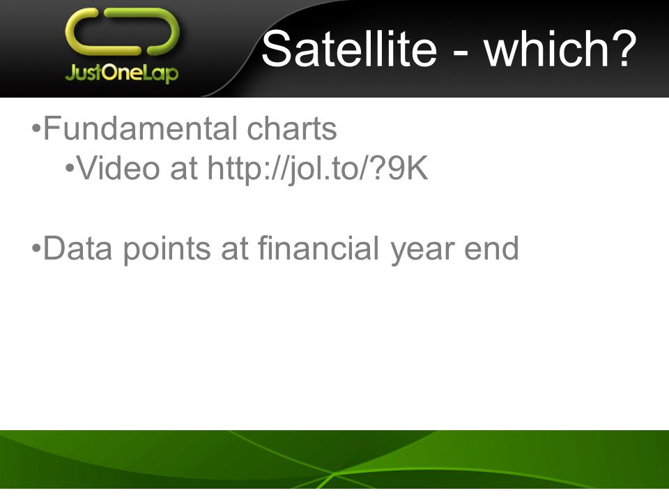Satellite - which Fundamental charts Video at http://jol.to/ 9K Data points at financial year end