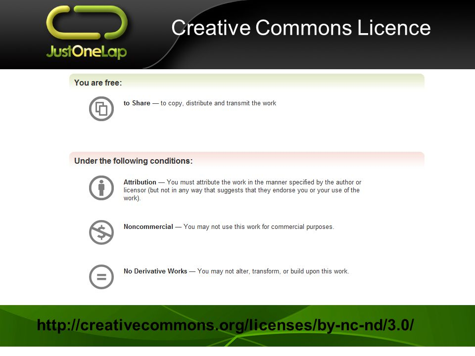 Creative Commons Licence http://creativecommons.org/licenses/by-nc-nd/3.0/