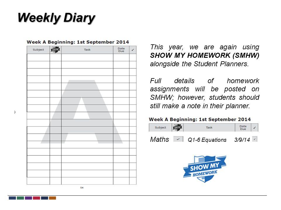riddlesdown collegiate show my homework calendar
