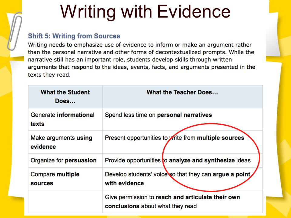 Writing with Evidence