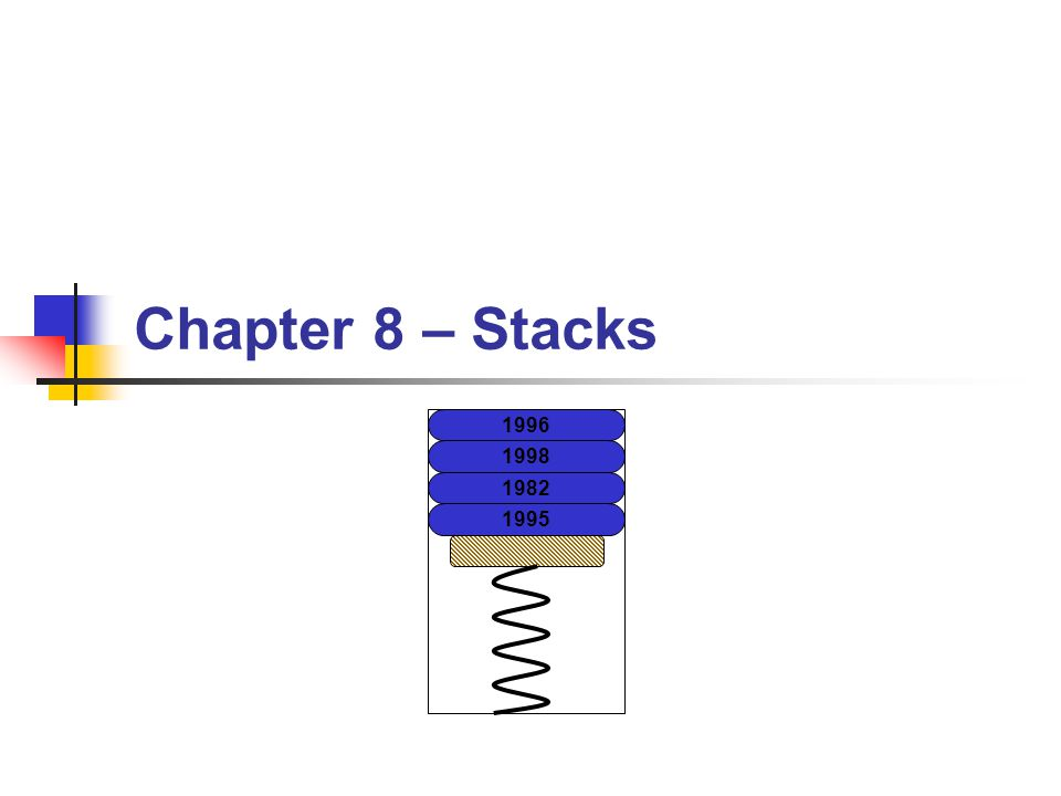 Chapter 8 – Stacks 1996 1998 1982 1995