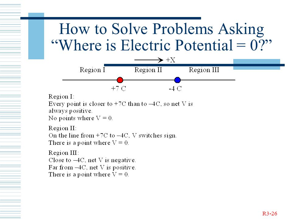 R3-26 How to Solve Problems Asking Where is Electric Potential = 0
