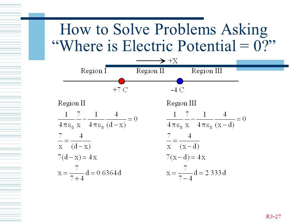 R3-27 How to Solve Problems Asking Where is Electric Potential = 0
