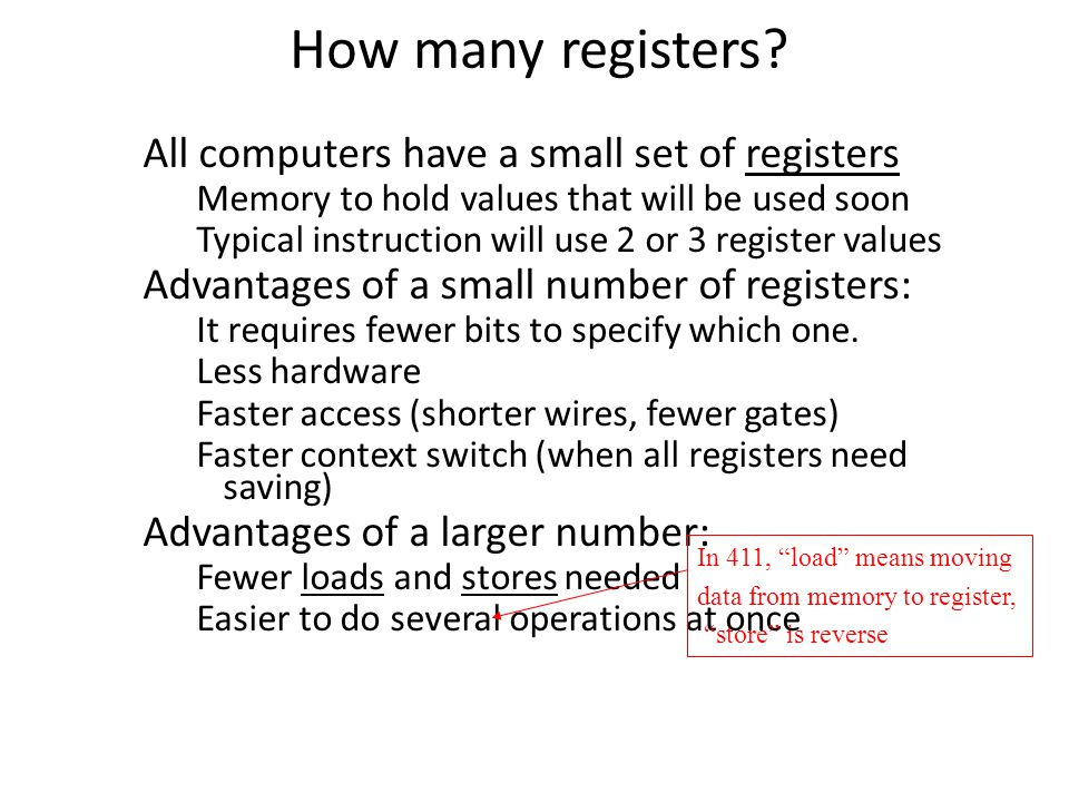 How many registers.