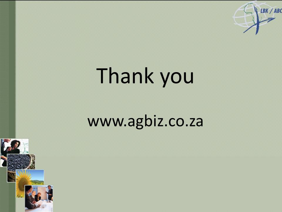 Thank you www.agbiz.co.za