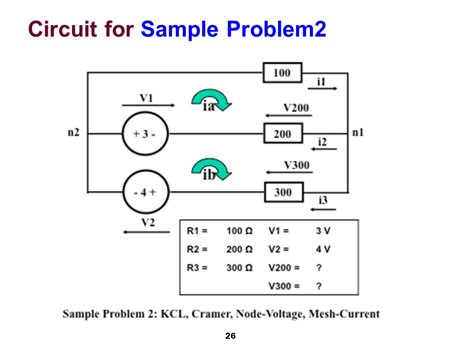 26 Circuit for Sample Problem2